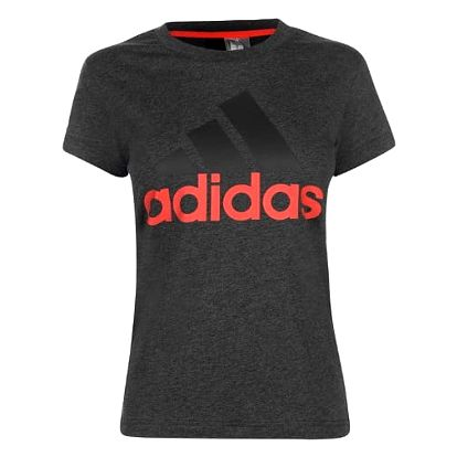 Dámské tričko ADIDAS Linear tmavě šedé/coral