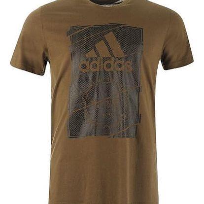 Pánské tričko ADIDAS BOX hnědé