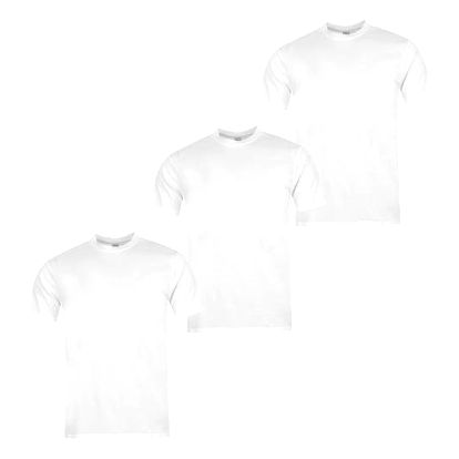 Sada 3 značkových triček DONNAY bílé