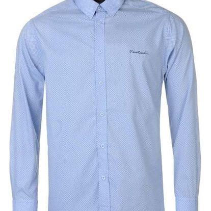 Značková pánská košile Pierre Cardin Long světle modrá vzor