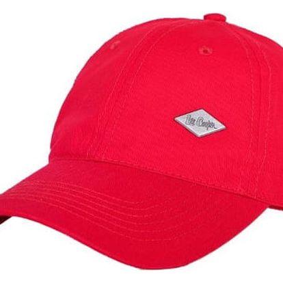 Značková kšiltovka Lee Cooper červená