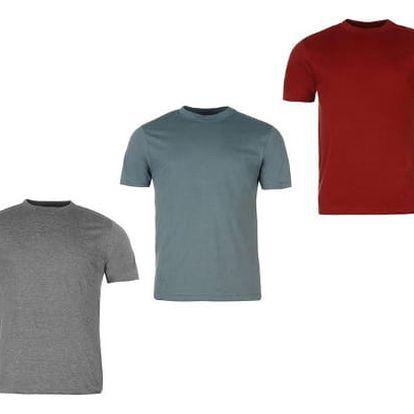 Sada 3 značkových triček DONNAY šedá/khaki/bordó