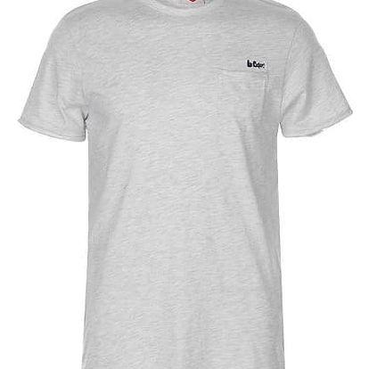 Pánské tričko Lee Cooper Raw šedé