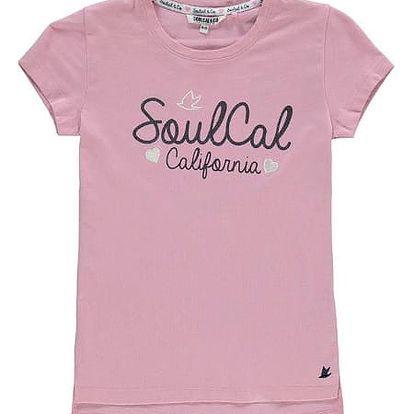 Dětské tričko SoulCal Girls růžové