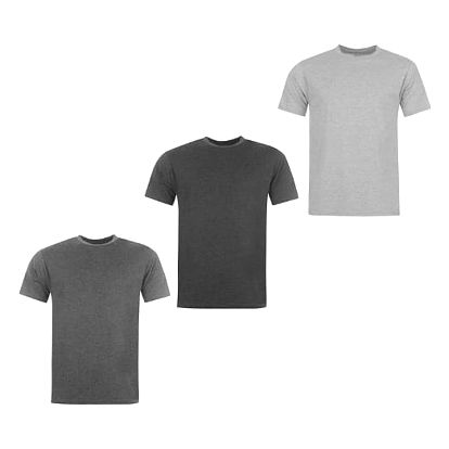 Sada 3 značkových triček DONNAY světle šedá/šedá/tmavě šedá