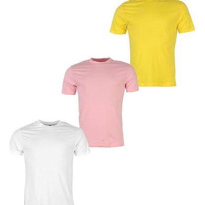 Sada 3 značkových triček DONNAY bílá/růžová/žlutá