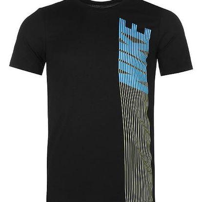 Pánské tričko NIKE Vertical černé
