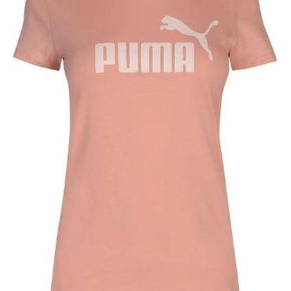 Dámské tričko PUMA Logo broskvová