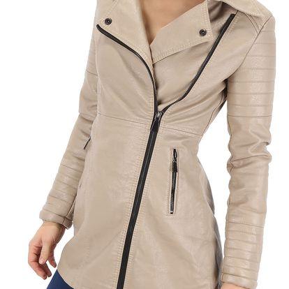 Dámský koženkový kabát Voyelles