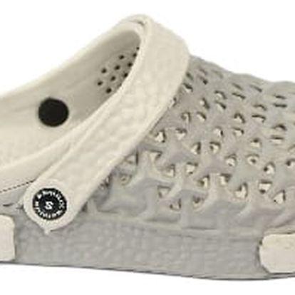 Pánské gumové pantofle šedé