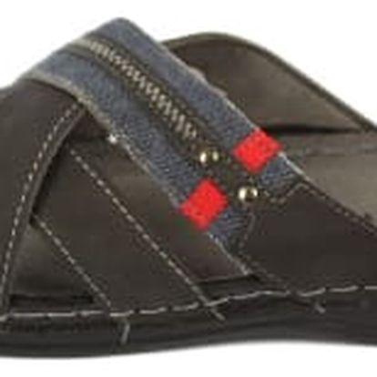 Pánské pantofle KOKA vzor 1 černé
