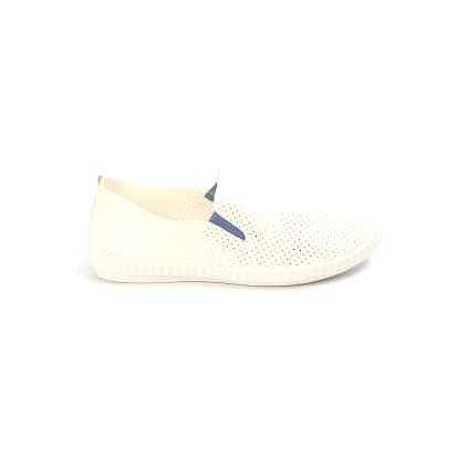 Moderní dámské děrované slip on tenisky bílo-modré