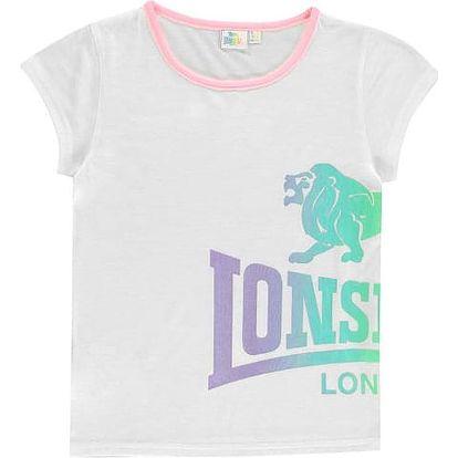Dětské tričko Lonsdale bílé