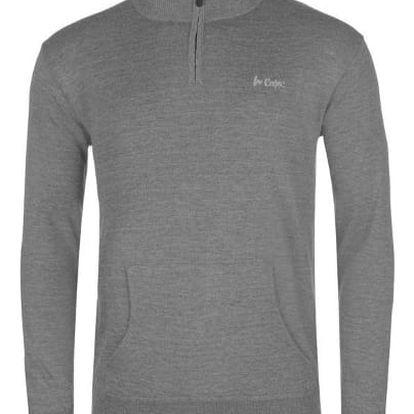 Pánský svetr Lee Cooper Quarter šedý