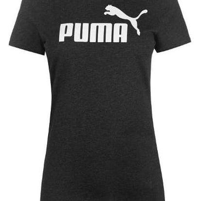 Dámské tričko PUMA Logo tmavě šedé