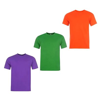 Sada 3 značkových triček DONNAY fialová/zelená/oranžová