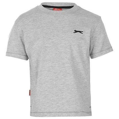 Značkové dětské tričko Slazenger šedé