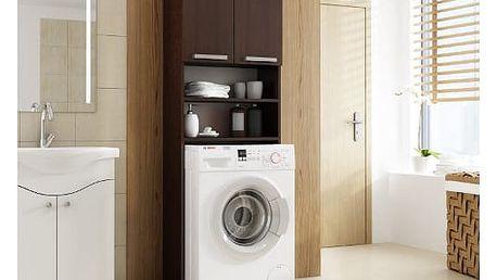 Skříňka do koupleny s možností uložení pračky wenge