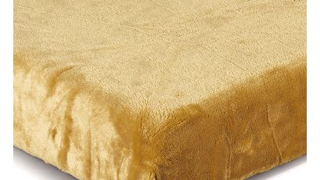Jahu Prostěradlo Mikroplyš medová, 180 x 200 cm
