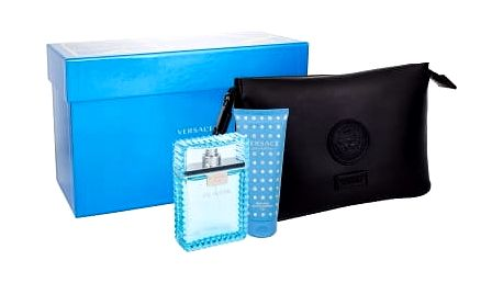 Versace Man Eau Fraiche dárková kazeta pro muže toaletní voda 100 ml + sprchový gel 100 ml + kosmetická taška