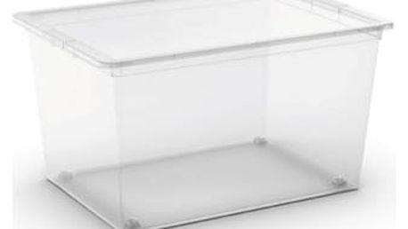 Plastový úložný box C-Box Transparent XL s kolečky, 50 L