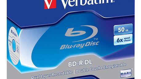 Disk Verbatim BD-R DualLayer 50GB, 6x, jewel, 5ks (43748)