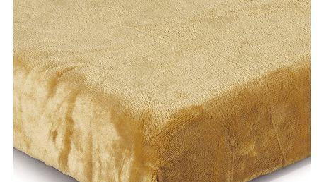 Jahu Prostěradlo Mikroplyš medová, 90 x 200 cm