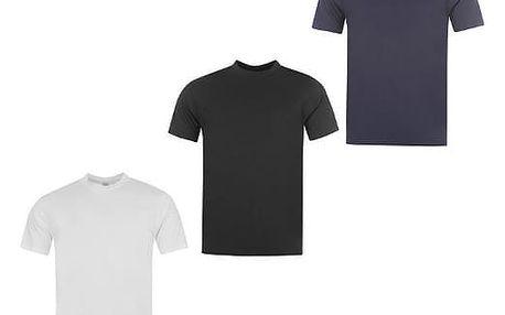 Sada 3 značkových triček DONNAY bílá/černá/modrá