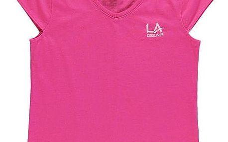 Dětské tričko LA Gear tmavě růžové