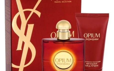 Yves Saint Laurent Opium 2009 dárková kazeta pro ženy toaletní voda 50 ml + tělové mléko 50 ml