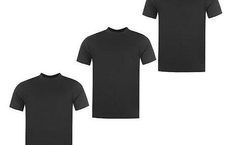 Sada 3 značkových triček DONNAY černé