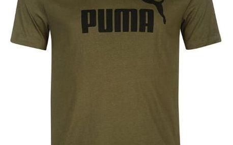Pánské tričko PUMA Logo olivové