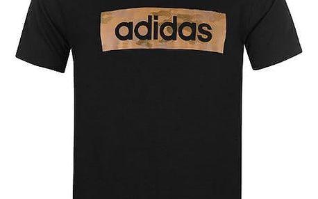 Pánské tričko ADIDAS Camo černé