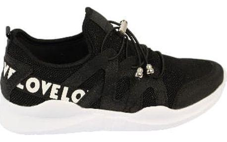 Lehoučké dámské běžecké boty LOVE černé
