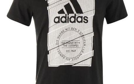 Pánské tričko ADIDAS BOX černé