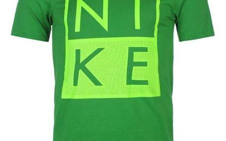 Pánské tričko NIKE Box zelené