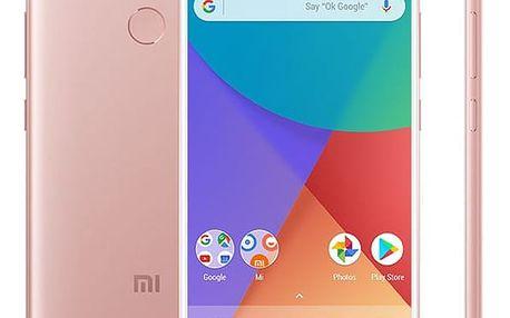 Mobilní telefon Xiaomi Mi A1 64 GB Dual SIM CZ LTE růžový (PH3620)