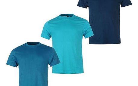 Sada 3 značkových triček DONNAY světle modrá/modrá/tmavě modrá
