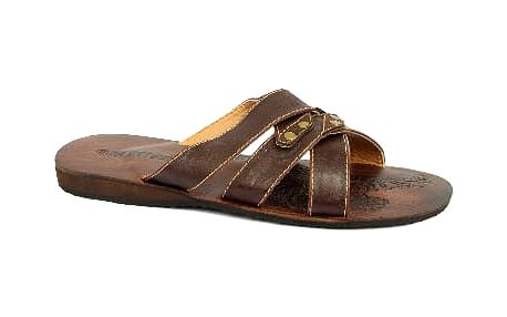 Kožené pánské pantofle SAMLUX hnědé