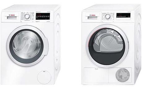 Set (Automatická pračka Bosch WAT28467CS) + (Sušička prádla Bosch WTH85207CS) + DOPRAVA ZDARMA