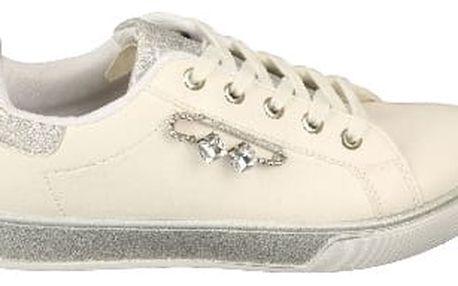 Dámské FASHION tenisky s lesklými prvky bílo/šedé