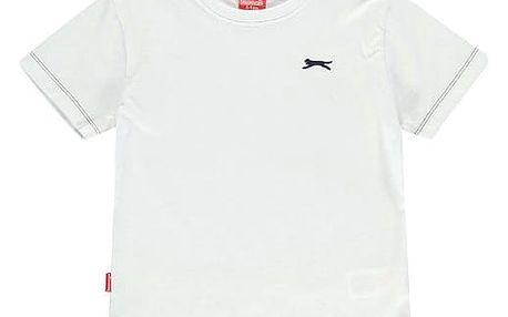 Značkové dětské tričko Slazenger bílé