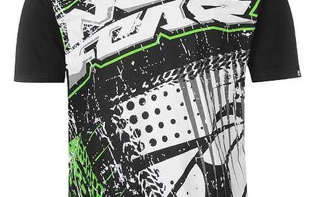 Pánské tričko No Fear Motocross grafic zelené