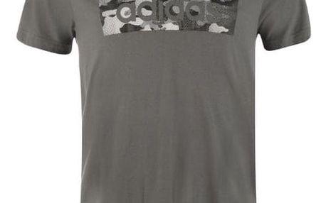 Pánské tričko ADIDAS Camo šedé