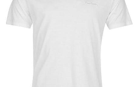Pánské tričko Pierre Cardin Neck bílé