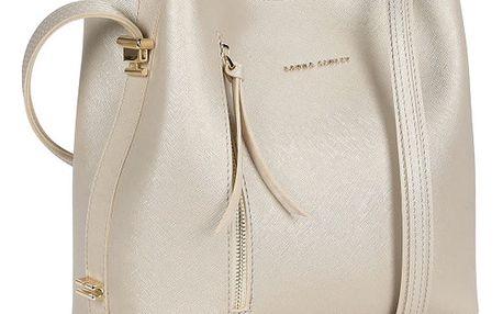 Kožená kabelka ve zlaté barvě Laura Ashley Erindale
