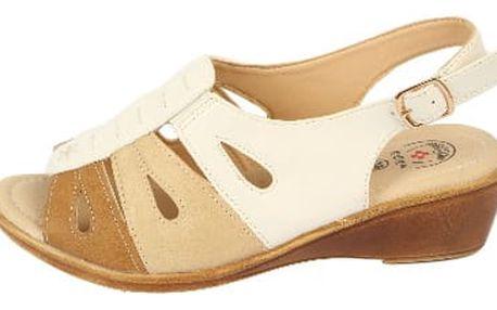 Dámské zdravotní sandále na klínku KOKA 11 white