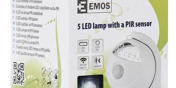 Noční světlo EMOS na baterie, 5 x LED s PIR čidlem (1440053210) bílé2