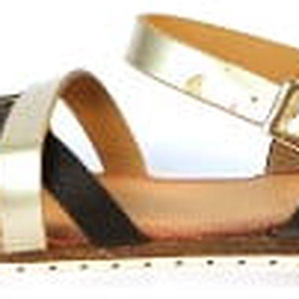 Moderní dámské sandálky černé