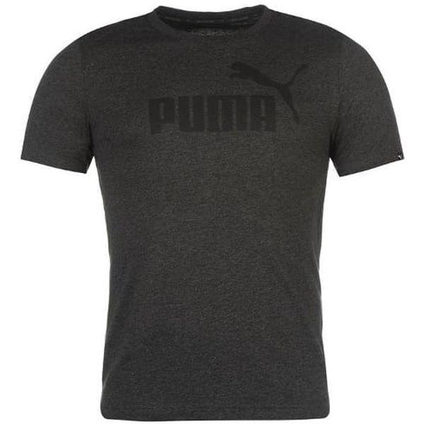 Pánské tričko PUMA Logo tmavě šedé